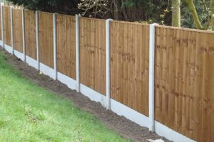 recent project for garden fencing in radstock